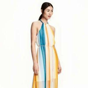 Multi color Sheer overlay sun dress